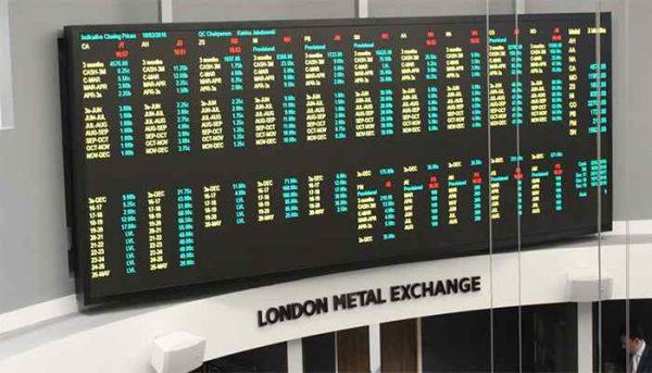 رشد چشمگیر قیمت فلزات در بورس لندن