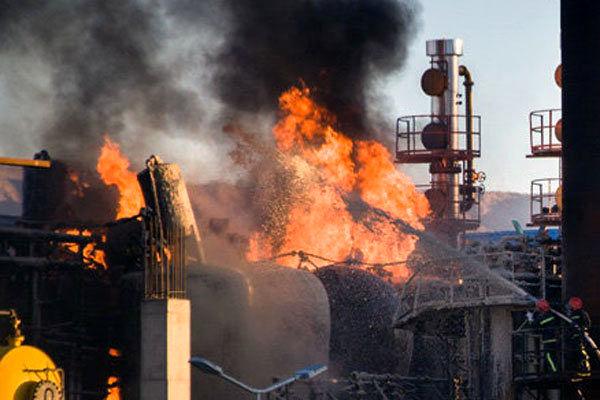 جزییات آتش سوزی امشب در پالایشگاه بندر عباس/سهامداران نگران نباشند