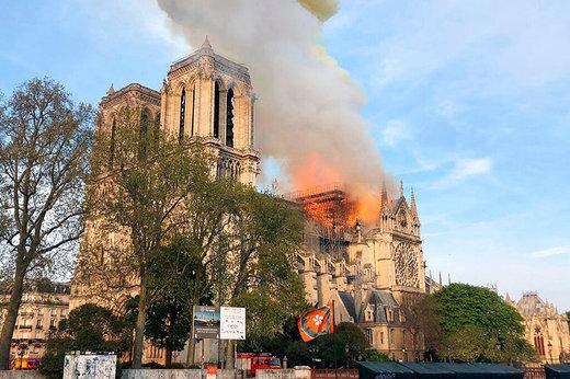تلنگر آتشسوزی کلیسای نوتردام