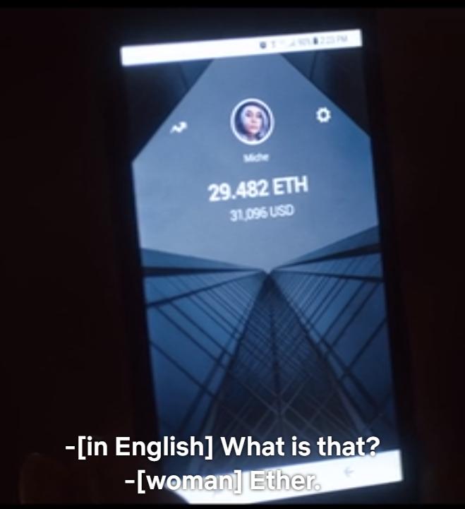 پلتفرم نمایش فیلم و سریال نتفلیکس(Netflix) اخیرا فصل دوم سریال The OA را منتشر کرده است. در فصل دوم سریال مذکور از رمزارز اتریوم به عنوان یک دارایی با ارزش یاد شده که توسط شخصیت اصلی به واسطهی انجام یک بازی آنلاین بدست آمده است.