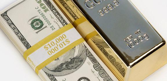 افزایش قیمت طلا همزمان با افزایش دلار
