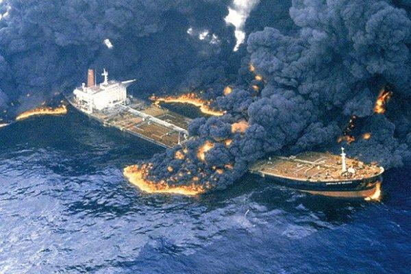 تصادف نفتکش در کانال کشتیرانی هوستون آمریکا