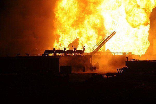 انفجار پالایشگاه نفت در امریکا