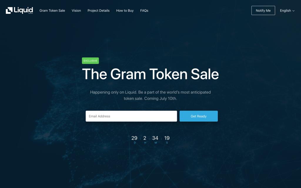 برگزاری اولین مرحله از عرضه اولیه گرام / صرافی لیکوئید، میزبان پیشفروش مشکوک ارز دیجیتال تلگرام