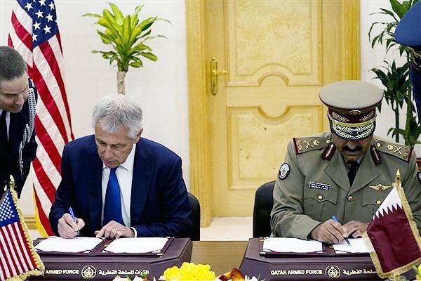 قراردادهای نظامی و تجاری بین امریکا و قطر به امضا رسید