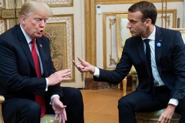 ترامپ و مکرون درباره ایران باهم گفت وگو کردند