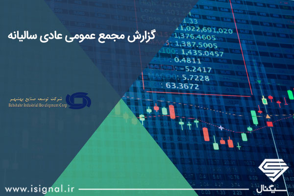 گزارش مجمع عمومی عادی سالیانه شرکت توسعه صنايع بهشهر (وبشهر)