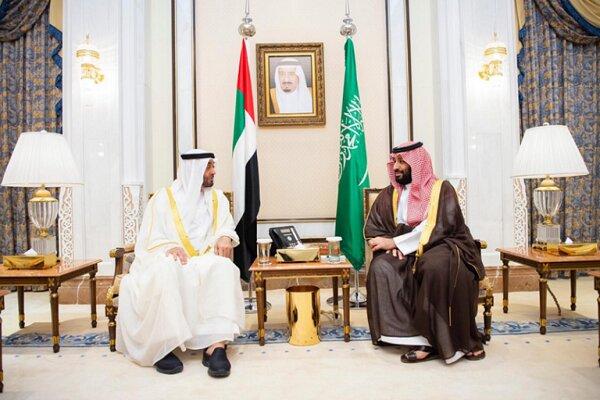دیدار بن زاید با پادشاه عربستان در حضور بن سلمان