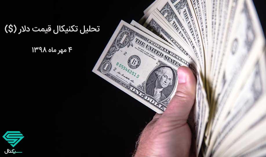 تحلیل تکنیکال قیمت دلار به همراه نمودار (4 مهر ماه 1398)