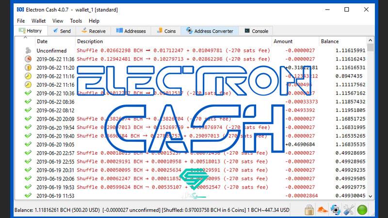کیف پول بیت کوین کش Electron Cash