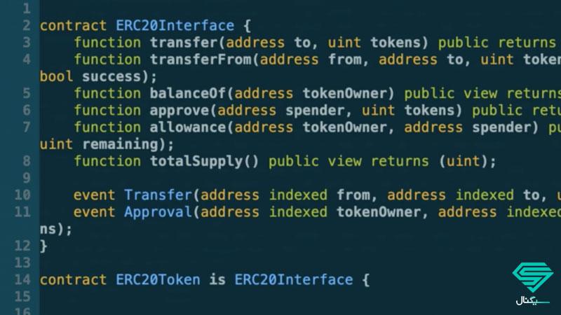 نمونه کدنویسی توکن ERC20