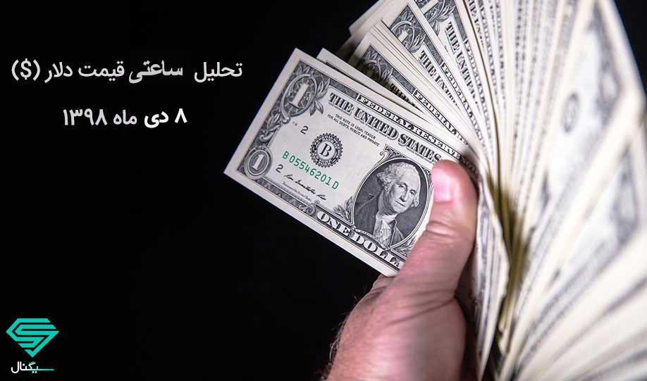 تحلیل تکنیکال دلار در بازه ی ساعتی(8 دی ماه 1398)