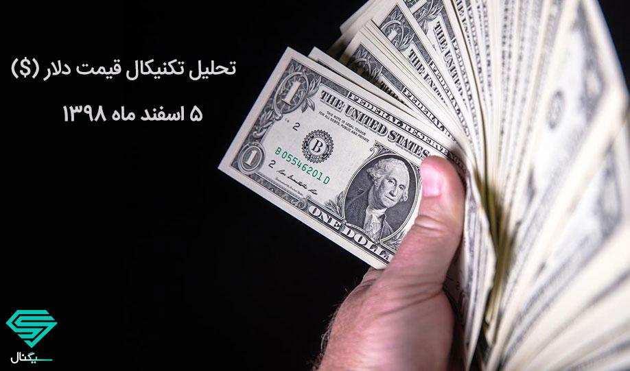 افزایش قیمت دلار ادامه دار است؟   تحلیل تکنیکال قیمت دلار (5 اسفند ماه 1398)