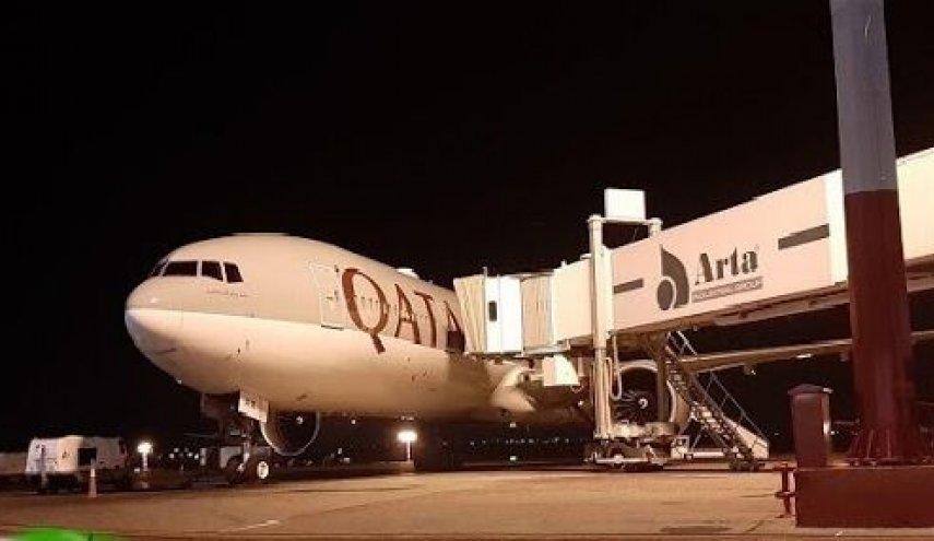 نخستین محموله کمکهای بهداشتی دولت قطر وارد تهران شد