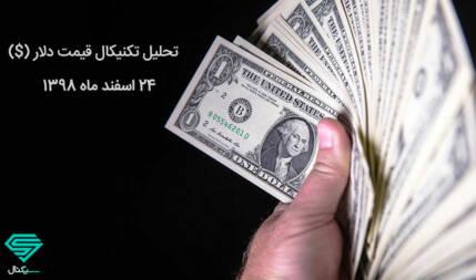 تعیین روند آتی دلار با خروج از ناحیه تراکمی اخیر | تحلیل تکنیکال قیمت دلار (24 اسفند ماه 1398)