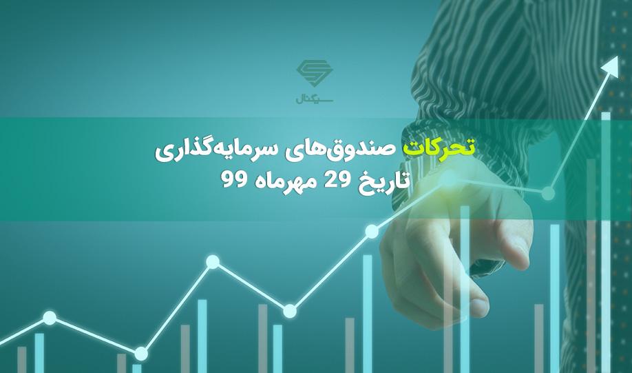 تحرکات صندوق های سرمایه گذاری در 29 مهرماه 99