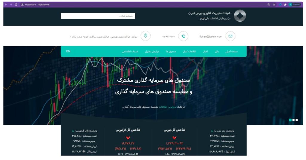 سایت مرکز پردازش اطلاعات مالی ایران (fipiran.com)