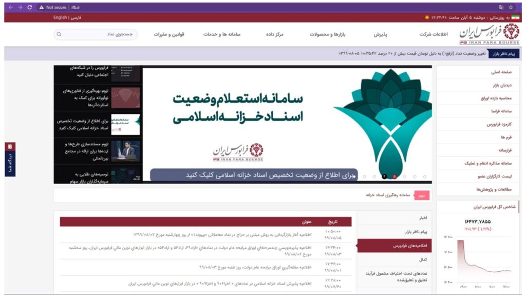 سایت فرابورس ایران (ifb.ir)
