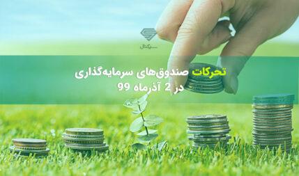 تحرکات صندوق های سرمایه گذاری در یکشنبه 2 آذر ماه 99