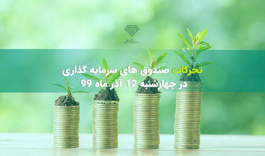 تحرکات صندوق های سرمایه گذاری | چهارشنبه 12 آذر ماه 99