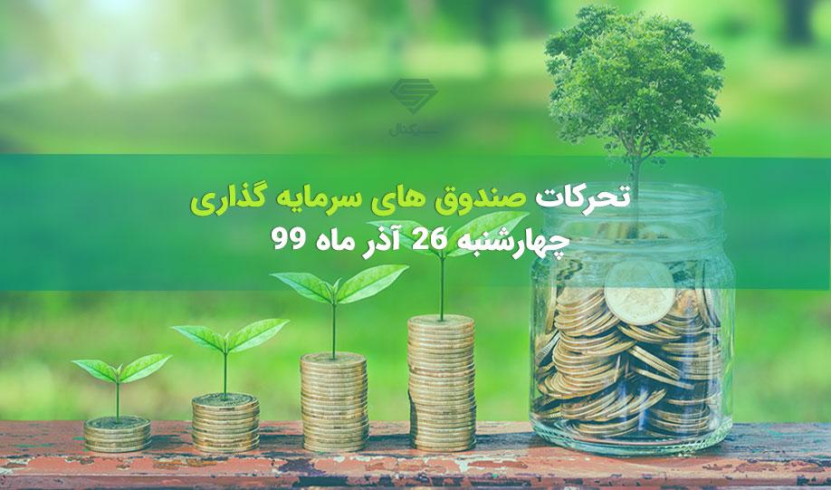 تحرکات صندوق های سرمایه گذاری | چهارشنبه 26 آذر ماه 99