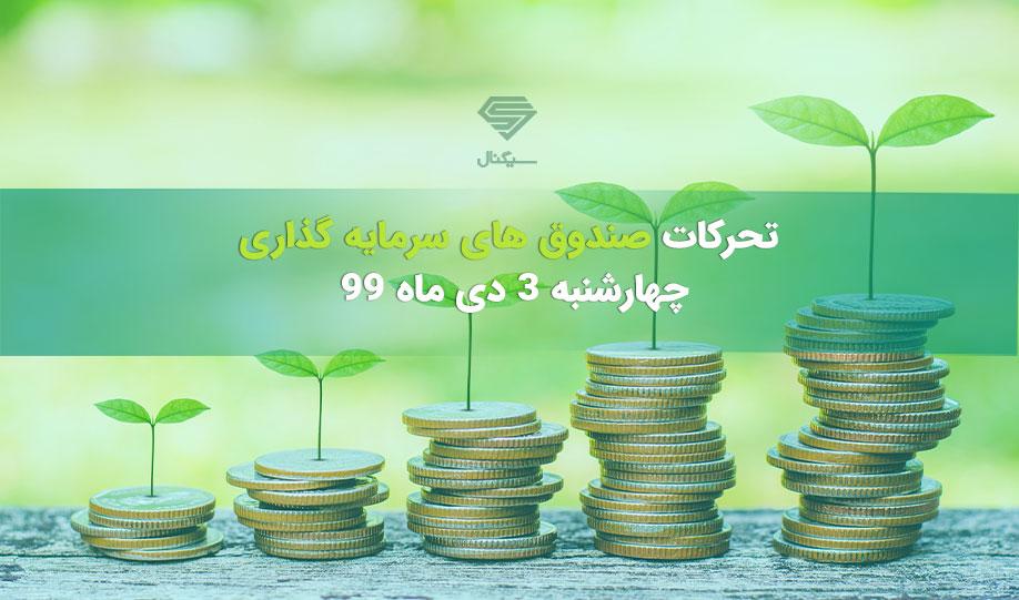 تحرکات صندوق های سرمایه گذاری | چهارشنبه 3 دی ماه 99