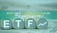 حباب در صندوق های ETF (قابل معامله در بورس) در هفته منتهی به 2 بهمن ماه 99