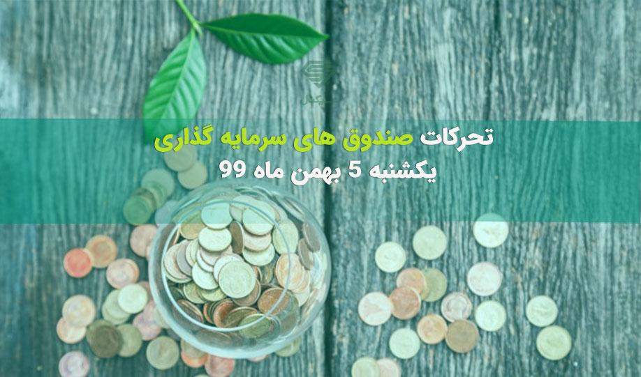 تحرکات صندوق های سرمایه گذاری | یکشنبه 5 بهمن ماه 99