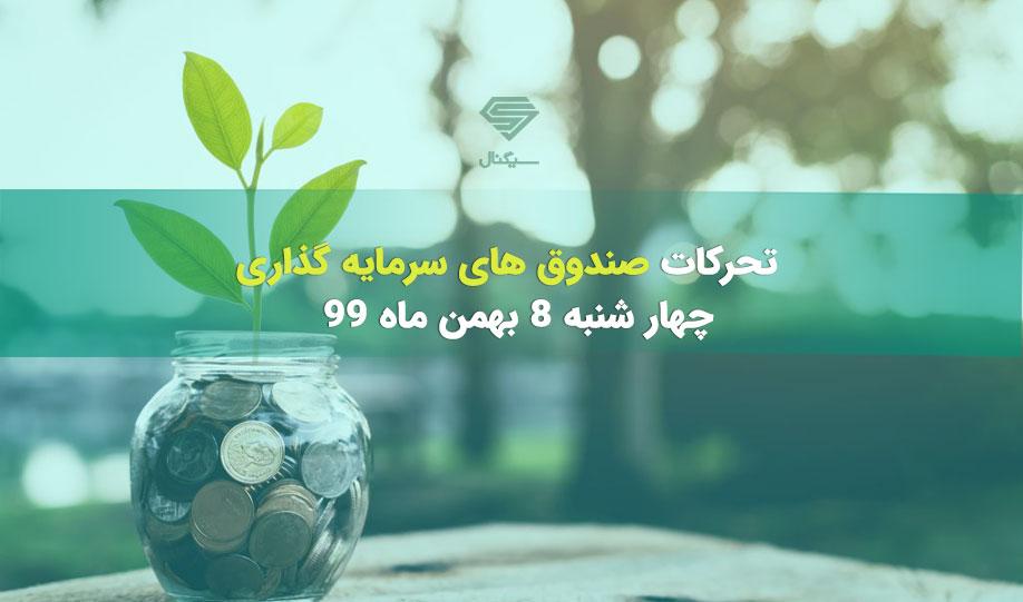 تحرکات صندوق های سرمایه گذاری | چهار شنبه 8 بهمن ماه 99