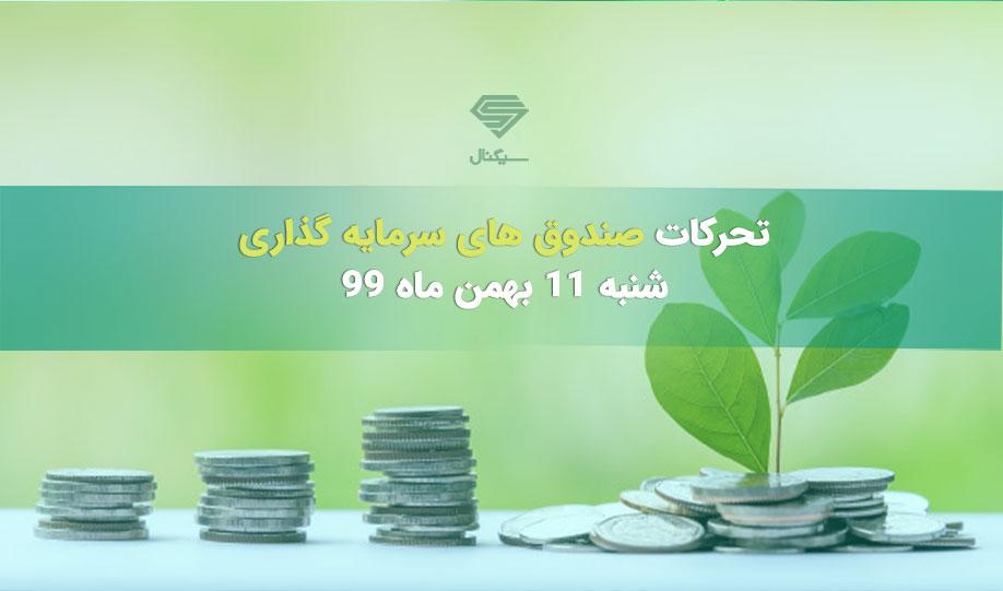 تحرکات صندوق های سرمایه گذاری | شنبه 11 بهمن ماه 99