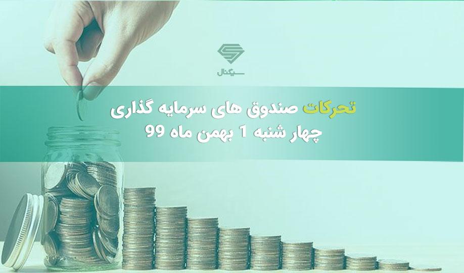 تحرکات صندوق های سرمایه گذاری | چهار شنبه 1 بهمن ماه 99