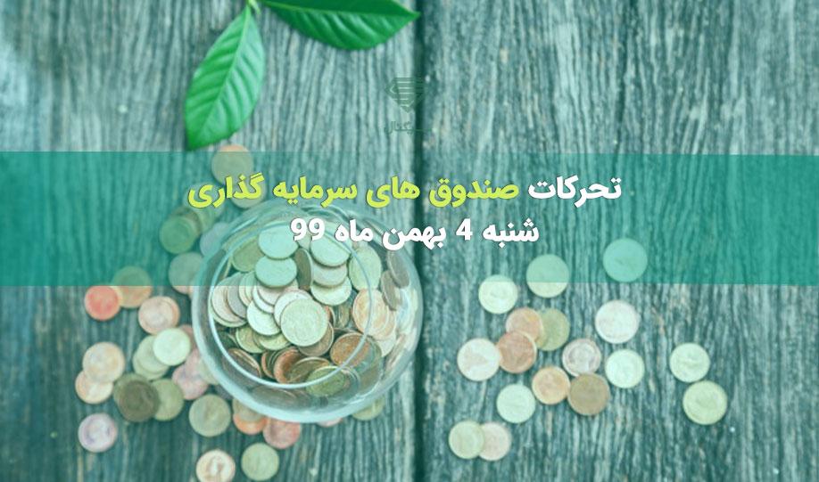 تحرکات صندوق های سرمایه گذاری | شنبه 4 بهمن ماه 99