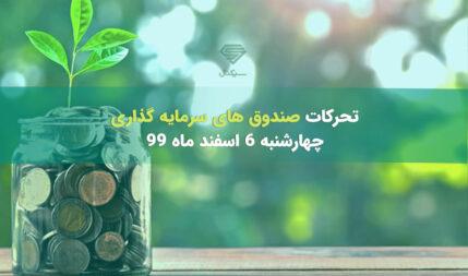 تحرکات صندوق های سرمایه گذاری در چهارشنبه 6 اسفند ماه 99