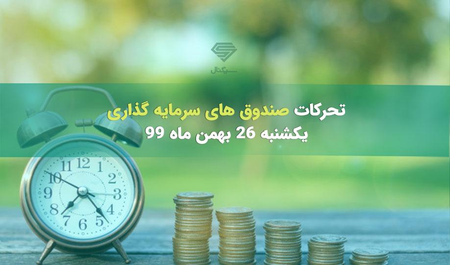 تحرکات صندوق های سرمایه گذاری | یکشنبه 26 بهمن ماه 99