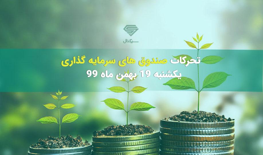 تحرکات صندوق های سرمایه گذاری | یکشنبه 19 بهمن ماه 99