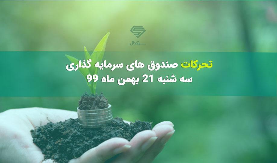 تحرکات صندوق های سرمایه گذاری   سه شنبه 21 بهمن ماه 99