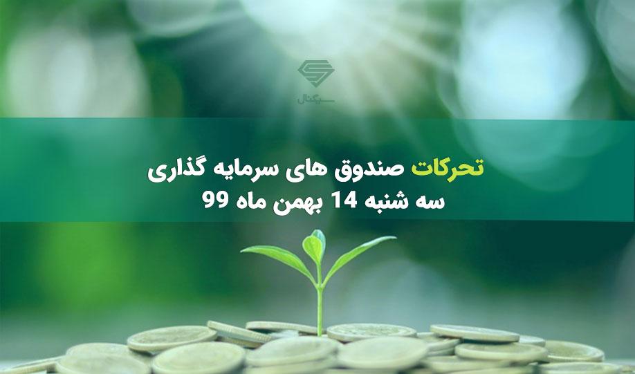 تحرکات صندوق های سرمایه گذاری | سه شنبه 14 بهمن ماه 99