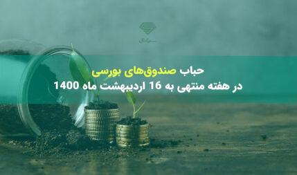 حباب صندوقهای بورسی در هفته منتهی به 16 اردیبهشت ماه 1400