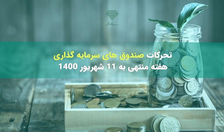 تحرکات صندوق های سرمایه گذاری   هفته منتهی به 11 شهریورماه 1400