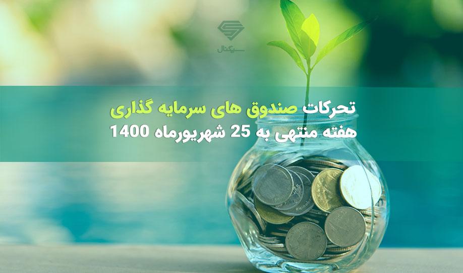 تحرکات صندوق های سرمایه گذاری | هفته منتهی به 25 شهریورماه 1400