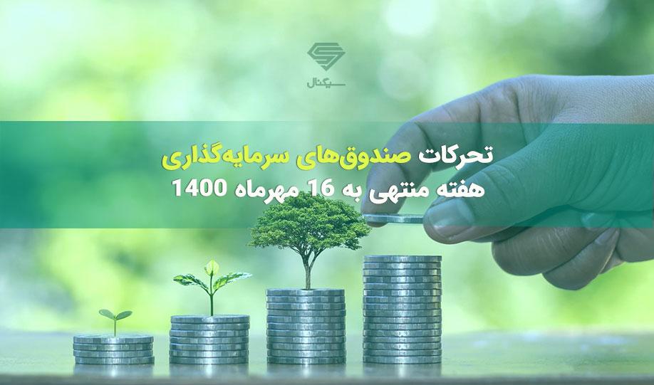 تحرکات صندوق های سرمایه گذاری | هفته منتهی به 16 مهرماه 1400